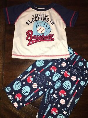Carters Two Piece Baby Baseball Sports Theme Pajamas 18 Month NEW