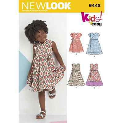 New Look Sewing Pattern 6442 Childs Easy Wrap Dresses