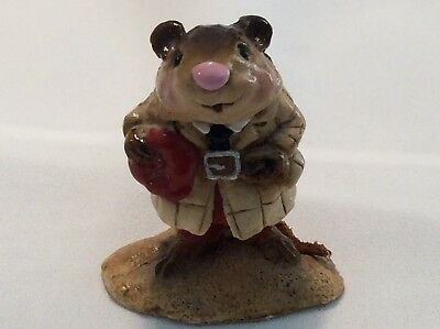 Wee Forest Folk 1982 Ratty WW-4 Signed AP Retired 1983 Wind in the Willows Rare
