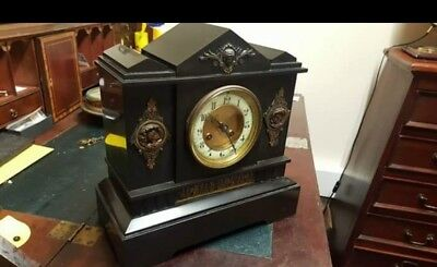 Antique Slate & Marble Clock