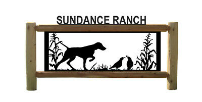Bird Hunting - Pointers - Quail-  Outdoor Signs - Dogs