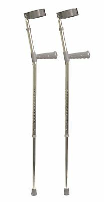 Aidapt Pvc Wedge Handle Elbow Crutch 1361 mm Grey Extra Large
