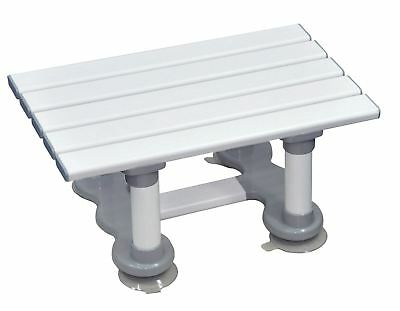 Aidapt Medina Plastic Bath Seat 152x450x290 mm White and grey