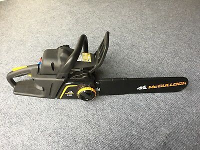 MCCULLOCH CS360T 36cc Petrol 35cm Chainsaw - New! - with oils, manual, helmet