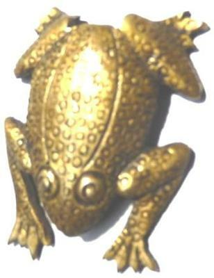 Toad Frog Design  Antique Style Brass Paperweight Statue Figure Table Decor BJA2