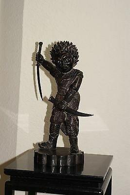 Antique 19 Century Southeast Asia Bronze Statue
