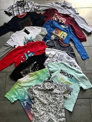 BUNDLE OF BOYS TOPS, SHIRTS & T-SHIRTS 13 ITEMS AGE 6-7 YEARS (Ted Baker, Gap)