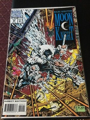 Marc Spector: Moon Knight #55 1st Stephen Platt! Signed With Coa And More