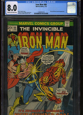 Iron Man #66 CGC 8.0 - 1974 THOR Gil Kane Mike Friedrich GEORGE TUSKA