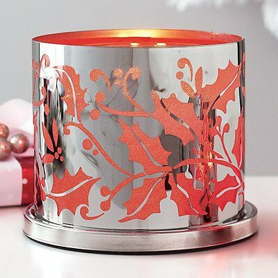 Partylite Enchanted Crimson Berry Candle Holder~Holiday,Christmas, Rare, NEW!