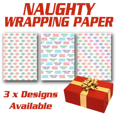 **REALLY RUDE** Christmas Wrapping Paper | Funny | Humour | Rude | Naughty ADULT