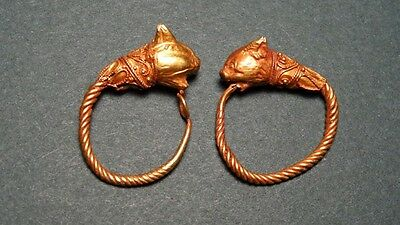 ANCIENT GOLD EARRINGS PROVENANCE: CHRISITIE'S HELLENISTIC 3rd-2nd CENTURY BC