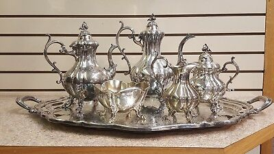 Reed & Barton Winthrop 1795 BEAUTIFUL!!! 6 Pc Coffee & Tea Silver Service