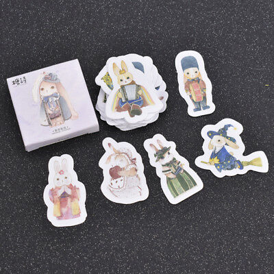 INs Cute Bunny Rabbit Paper Stickers for Craft Scrapbook Diary DIY Notebook Hot