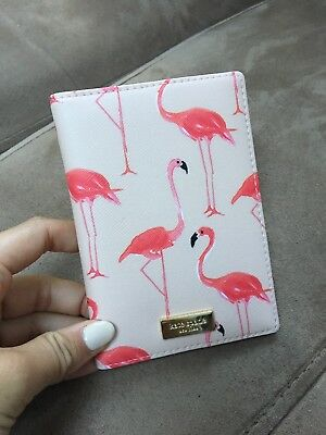 Kate Spade Passport Holder Flamingo NWT