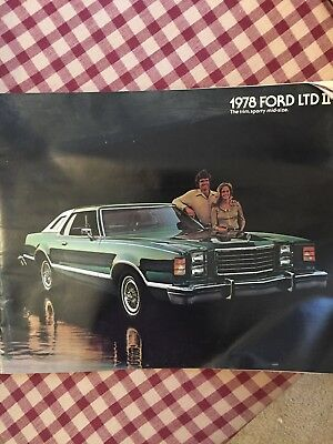 1978 FORD LTD II Original Color Showroom Car Sales Brochure. Auto; 12 PAGES