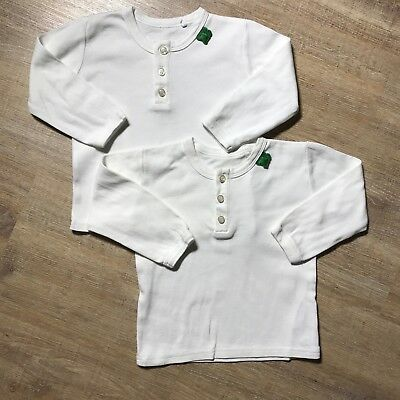 2x Freds World By Green Cotton Gr. 80 Langarmshirt Oberteil Weiß NEUW