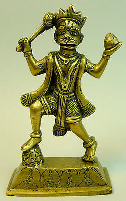 Antique Indian Polished Bronze Monkey Deity Figure C.1890
