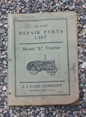Vintage Case model L tractor Illustrated Repair Parts Catalog Manual + MORE!