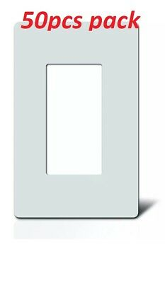 1-Gang Screwless Decorator Wall Plates GFCI Rocker Switch Outlet White (50/Pack)