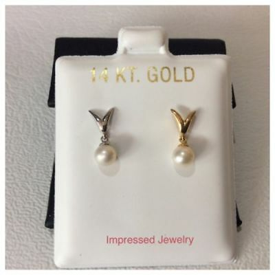 Wellingsale 14K Yellow Gold Polished Replacement Screw Style Earring Backings For Wellingsale Screw Back Studs Only