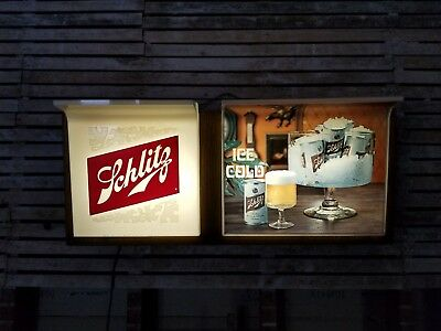 vintage 1967 JOS Schlitz Lighted Beer Sign 36 x 15 1/2 x 9 ** RARE **