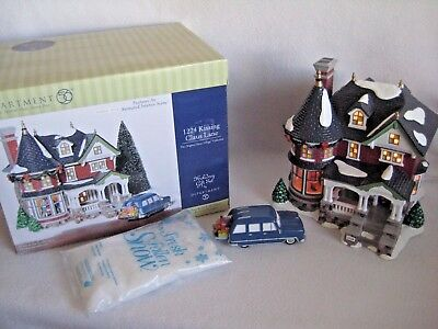 Dept 56 Snow Village 1224 Kissing Claus Lane - Animated, Musical, Tested - w/Box