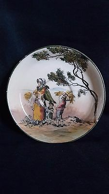 Royal Doulton Seriesware Saucer English Old Scenes 'The Gleaners' D3191