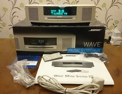 Bose Wave III Music System FM AM DAB CD Touch On Off Bluetooth Remote ex Display