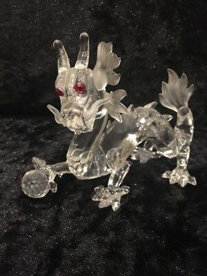 Swarovski 1997 Dragon, Complete With Box And Certificate