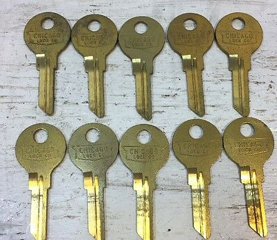 Chicago Lock Company Original K102 Blank Keys - Lot of 10