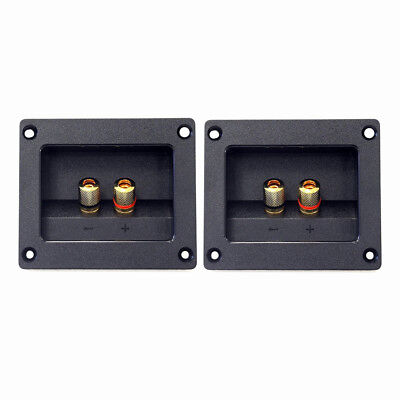 2pcs DIY Home Car Stereo 2-way Speaker Box Terminal Round Square Spring Cup R1O9