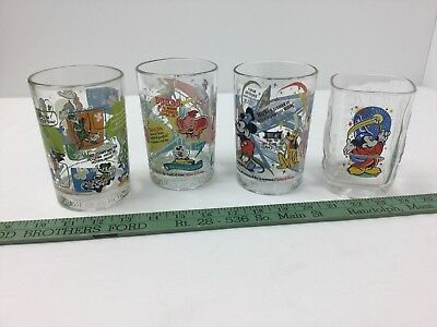 Disney Glasses-Lot of 4-MIckey-Dumbo-All the Gang-Beautiful-Colorful