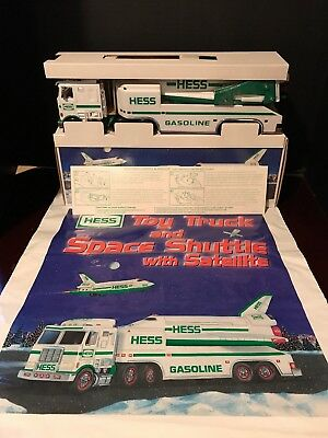 1999 Hess Toy Truck And Space Shuttle With Satellite New In Box Original Bag
