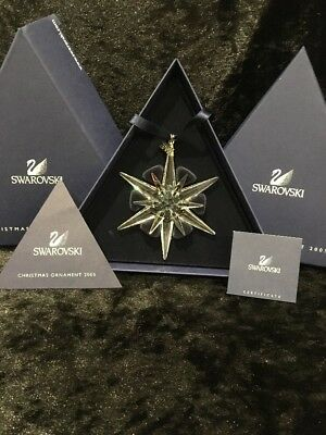 Swarovski 2005 Christmas Star Ornament
