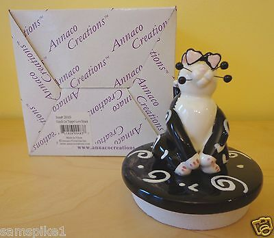 NEW WhimsiClay Cat by Amy Lacombe 2002 Candle Jar Topper #20103 Love Struck Cat