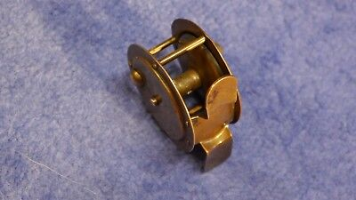 Alte Angelrolle Messingrolle Grundrolle (DAM) 50mm vintage fly fishing reel