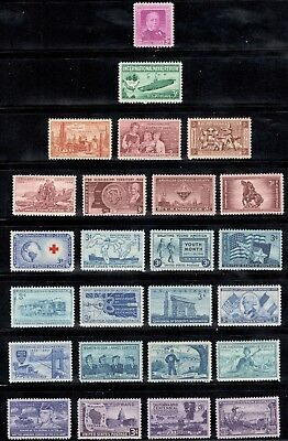 60-70 Year Old Mint US Postage Stamp Collection Of 25 Vintage Stamps (V-16)