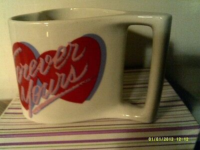 RARE VTG  Avon  HERE'S MY HEART MUG-FOREVER YOURS- NEW IN BOX-FREE SHIPPING