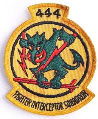 "Us Leather Jacket Squadron Patch "" 444 Fighter Interceptor Squadron """