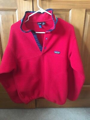 PATAGONIA Synchilla Red Fleece Pullover Jacket Youth Kids Size 12