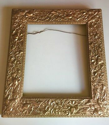 ANTIQUE 19th Century Ornate Floral PAINTING FRAME Gilt Wood & Gesso