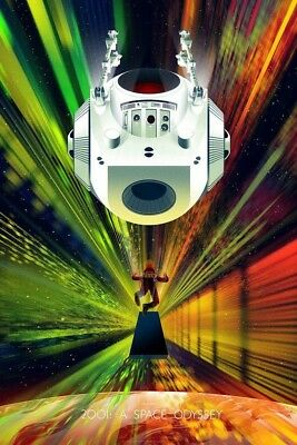 2001 A Space Odyssey Kevin Tong Movie Poster Mondo Print /300