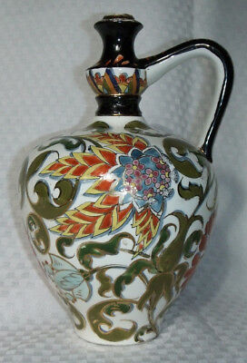 Fischer J Budapest Herend 19th c Hand Painted Decanter