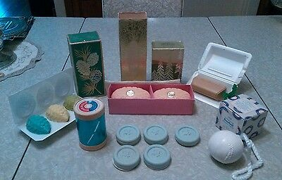 Lot of 5 different vintage avon nos soaps. Soap on a rope and decorative.