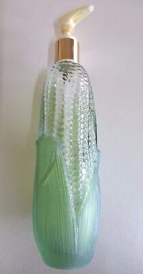 Avon Golden Harvest Corn on the Cob Glass Hand Lotion Bottle with Pump - 1970s