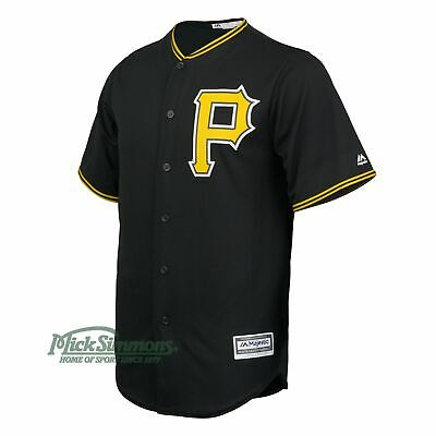NEW Pittsburgh Pirates Cool Base Alternate MLB Baseball Jersey by Majestic