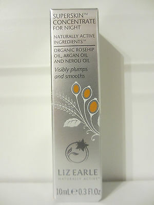 BNIB Sealed Liz Earle Superskin Concentrate For Night Rollerball 10ml TRAVEL