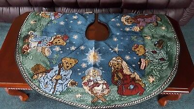 Boyds Bear Holiday Christmas Pageant Nativity Tree Skirt Mint With Tag