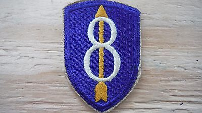US ARMY WWII 8th INFANTRY DIVISION SHOULDER PATCH